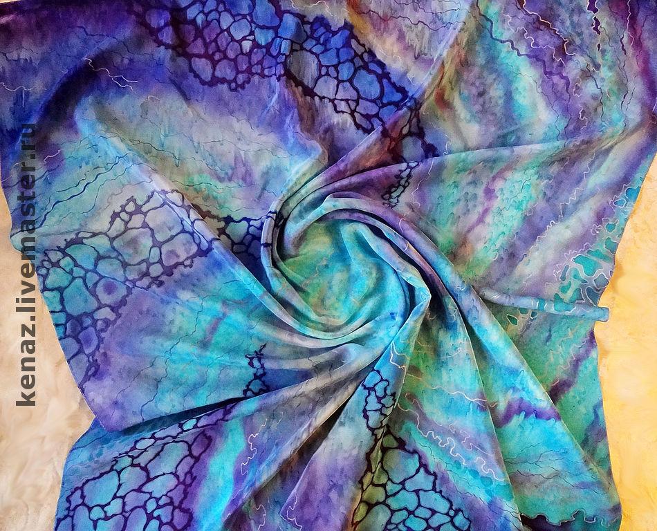 Scarf batik silk'Andromeda', Shawls1, St. Petersburg,  Фото №1