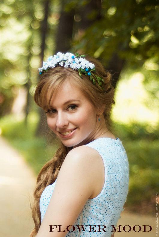 """Свадебные украшения ручной работы. Ярмарка Мастеров - ручная работа. Купить Венок  """"Лесная нимфа"""". Handmade. Белый, венок для невесты"""