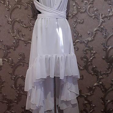 Одежда ручной работы. Ярмарка Мастеров - ручная работа Платье Белый трансформер. Handmade.