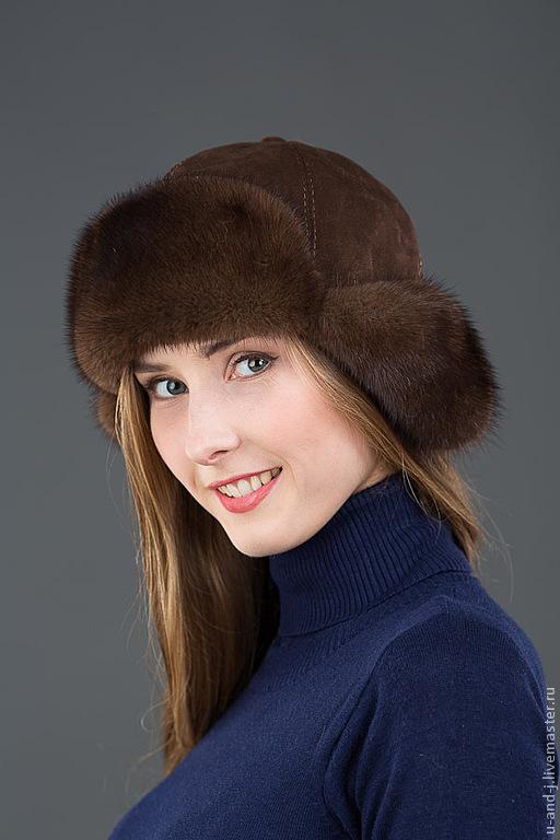 Ушанка норковая коричневая, Шапка-ушанка, Москва,  Фото №1