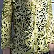 """Одежда ручной работы. Ярмарка Мастеров - ручная работа Жакет """" Нежный ажур"""".. Handmade."""