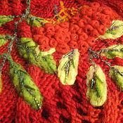 Одежда ручной работы. Ярмарка Мастеров - ручная работа Рябина - жилет шерсть шелк вискоза бисер аппликация. Handmade.