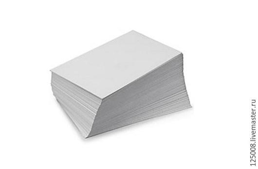 Упаковка ручной работы. Ярмарка Мастеров - ручная работа. Купить Крафт бумага беленая А4 (21х30) 0,5 кг / 100 листов. Handmade.