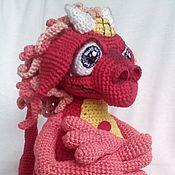 Куклы и игрушки ручной работы. Ярмарка Мастеров - ручная работа Вязаный дракон Лео. Handmade.