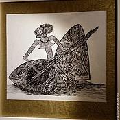"""Картины и панно ручной работы. Ярмарка Мастеров - ручная работа Картина """"Музыка Африки"""". Handmade."""
