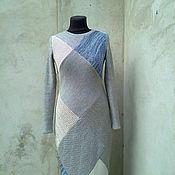 Одежда ручной работы. Ярмарка Мастеров - ручная работа вязаное платье Пэчворк. Handmade.