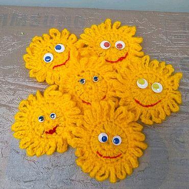 """Куклы и игрушки ручной работы. Ярмарка Мастеров - ручная работа Подвески """"Солнышко"""". Handmade."""