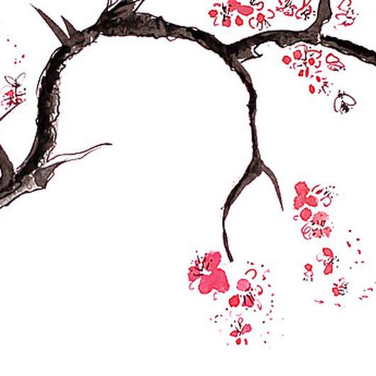 """Картины цветов ручной работы. Ярмарка Мастеров - ручная работа. Купить Картина """"Цветение"""". Handmade. Цветение, япония, ханами, сакура"""