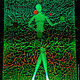 """Абстракция ручной работы. Заказать Пиклид """"Девочка с шарами"""". Картина живущая в темноте.. Мастерская Шальневой Натальи. Ярмарка Мастеров. светотерапия"""
