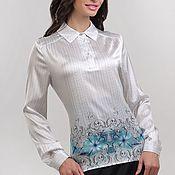 """Одежда ручной работы. Ярмарка Мастеров - ручная работа Блузка шелковая """"Морозные узоры"""". Handmade."""