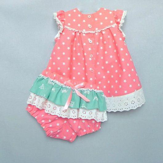 Одежда для девочек, ручной работы. Ярмарка Мастеров - ручная работа. Купить Платье для девочки, блумеры. Handmade. Платье для девочки