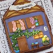 """Сувениры и подарки ручной работы. Ярмарка Мастеров - ручная работа Пряничный домик """"Поздравляем"""". Handmade."""