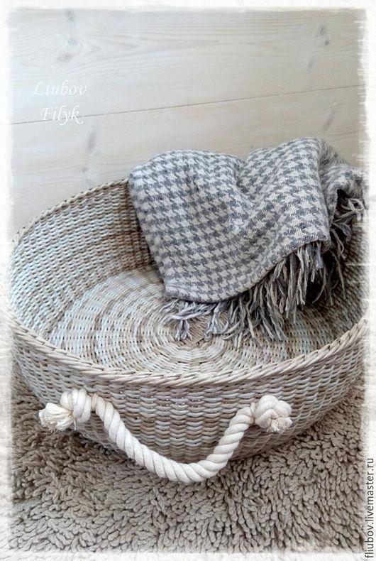 Корзины, коробы ручной работы. Ярмарка Мастеров - ручная работа. Купить Большая плетеная корзина  'Pastel'. Handmade. для детской комнаты