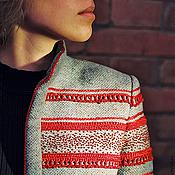 Одежда handmade. Livemaster - original item Wool jacket with g-man. Handmade.