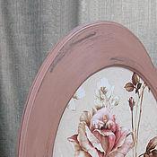 Для дома и интерьера ручной работы. Ярмарка Мастеров - ручная работа Постер в раме `Роза полуденная`. Handmade.