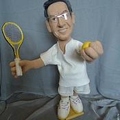 Подарки к праздникам ручной работы. Ярмарка Мастеров - ручная работа Портретная кукла на заказ по фотографии- Теннисист. Handmade.