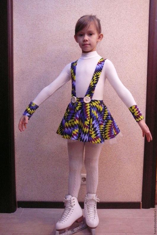 Детские танцевальные костюмы ручной работы. Ярмарка Мастеров - ручная работа. Купить Платье, костюм для  выступлений, фигурное катание. Handmade.