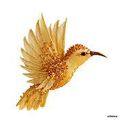 Brooches handmade. Livemaster - original item Brooch-Hummingbird