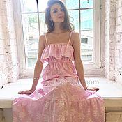 Одежда ручной работы. Ярмарка Мастеров - ручная работа Розовый сарафан из хлопка. Handmade.