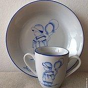 """Посуда ручной работы. Ярмарка Мастеров - ручная работа Набор детской посуды """"Малыш"""". Handmade."""