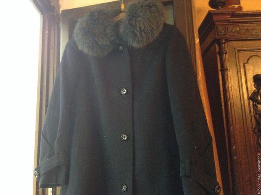 Одежда. Ярмарка Мастеров - ручная работа. Купить Винтажное зимнее пальто на мороз, советское ателье. Handmade. Тёмно-синий, винтаж