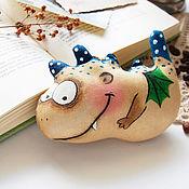 Мягкие игрушки ручной работы. Ярмарка Мастеров - ручная работа Дракоша. Кофейная игрушка.. Handmade.