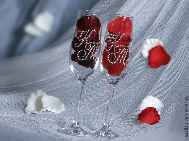 Personalized wedding glasses, Wedding glasses, Moscow,  Фото №1