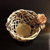 Пиалы ручной работы. Ярмарка Мастеров - ручная работа Конфетница Чайная роза. Handmade.