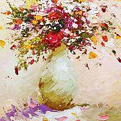 Картины ручной работы. Ярмарка Мастеров - ручная работа Картина маслом Летний букет с маками, 40х62см. Handmade.
