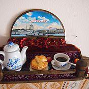 Для дома и интерьера ручной работы. Ярмарка Мастеров - ручная работа вешалка для кухни с миниатюрой. Handmade.