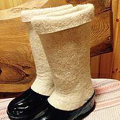 Обувь ручной работы. Ярмарка Мастеров - ручная работа Настоящие валенки + галоши. Handmade.