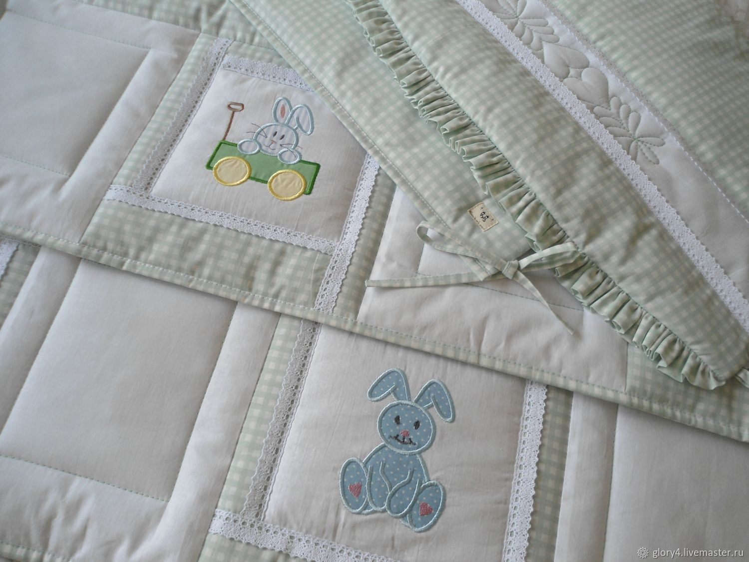 Set for newborn Bumpers and Blanket 'BUNNY', Collecti clothes, St. Petersburg,  Фото №1