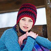 Аксессуары ручной работы. Ярмарка Мастеров - ручная работа Зимняя женская вязаная шапка. Handmade.