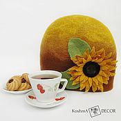 Посуда handmade. Livemaster - original item The tea cosy Sunflower - Sunny mood for Your kitchen. Handmade.