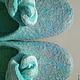 """Обувь ручной работы. Заказать тапочки """"Нежность прибоя.."""". Татьяна Амирханова (elffeya). Ярмарка Мастеров. Тапочки домашние"""