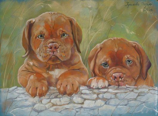 Животные ручной работы. Ярмарка Мастеров - ручная работа. Купить Братья. Handmade. Рыжий, Дог, собака, щенки, щенок, италия