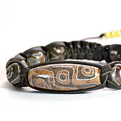 Украшения handmade. Livemaster - original item Shamballa bracelet eye of the Buddha from the skin 4. Handmade.