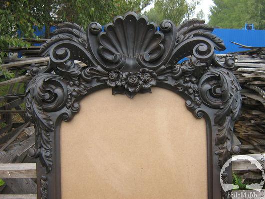 Зеркала ручной работы. Ярмарка Мастеров - ручная работа. Купить Резная рама для зеркала. Handmade. Черный, резьба по дереву