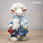 """Куклы и игрушки ручной работы. Ярмарка Мастеров - ручная работа Текстильная игрушка """"Овечка"""" - символ 2015 года. Handmade."""