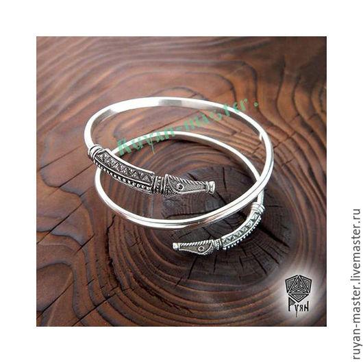 серебро браслет викинги