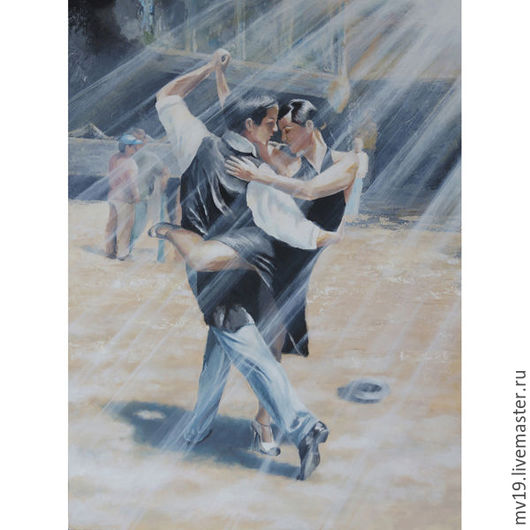 """Люди, ручной работы. Ярмарка Мастеров - ручная работа. Купить Картина """"Танец"""". Темпера, холст. Авторская работа.. Handmade. Комбинированный"""