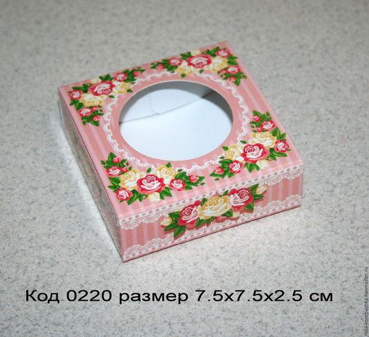 Коробочка квадратная код 0220   размер 9х6.5х2.5 см