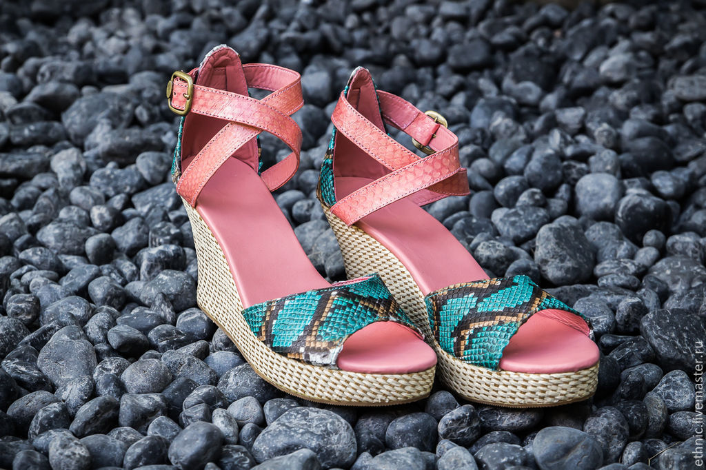 Shoes made of genuine Python leather Fiona, Shoes, Denpasar,  Фото №1