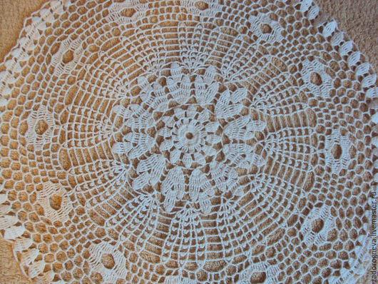 Текстиль, ковры ручной работы. Ярмарка Мастеров - ручная работа. Купить Салфетка 6. Handmade. Белый, крючком, Салфетка вязаная