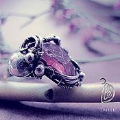 """Украшения ручной работы. Ярмарка Мастеров - ручная работа кольцо с гранатом """"Syrup"""" silver. Handmade."""