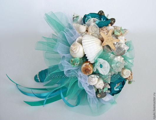 Свадебные цветы ручной работы. Ярмарка Мастеров - ручная работа. Купить Морской свадебный букет Изумрудный Остров. Handmade.