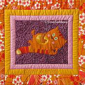 Для дома и интерьера ручной работы. Ярмарка Мастеров - ручная работа Лоскутное одеяло МАРУСИНЫ КОТИШКИ. Handmade.