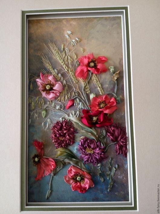 Картины цветов ручной работы. Ярмарка Мастеров - ручная работа. Купить Маки. Handmade. Оливковый, Картины и панно, картина с цветами