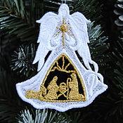 Сувениры и подарки handmade. Livemaster - original item Christmas angel with Nativity scene. Handmade.