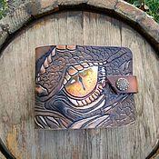 "Сумки и аксессуары handmade. Livemaster - original item Кошелек из натуральной кожи ""Глаз дракона"". Handmade."